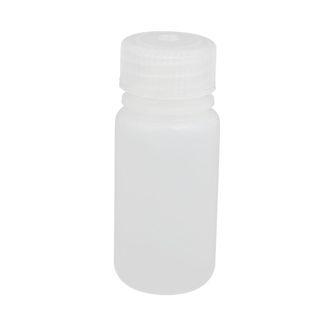 50ml Plastic Round Laboratory Reagent Bottle Sample Thicken Bottle White
