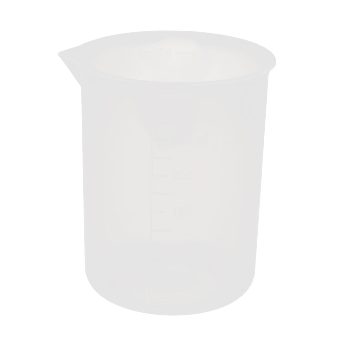 250mL Laboratory Plastic Liquid Container Measuring Cup Beaker Clear