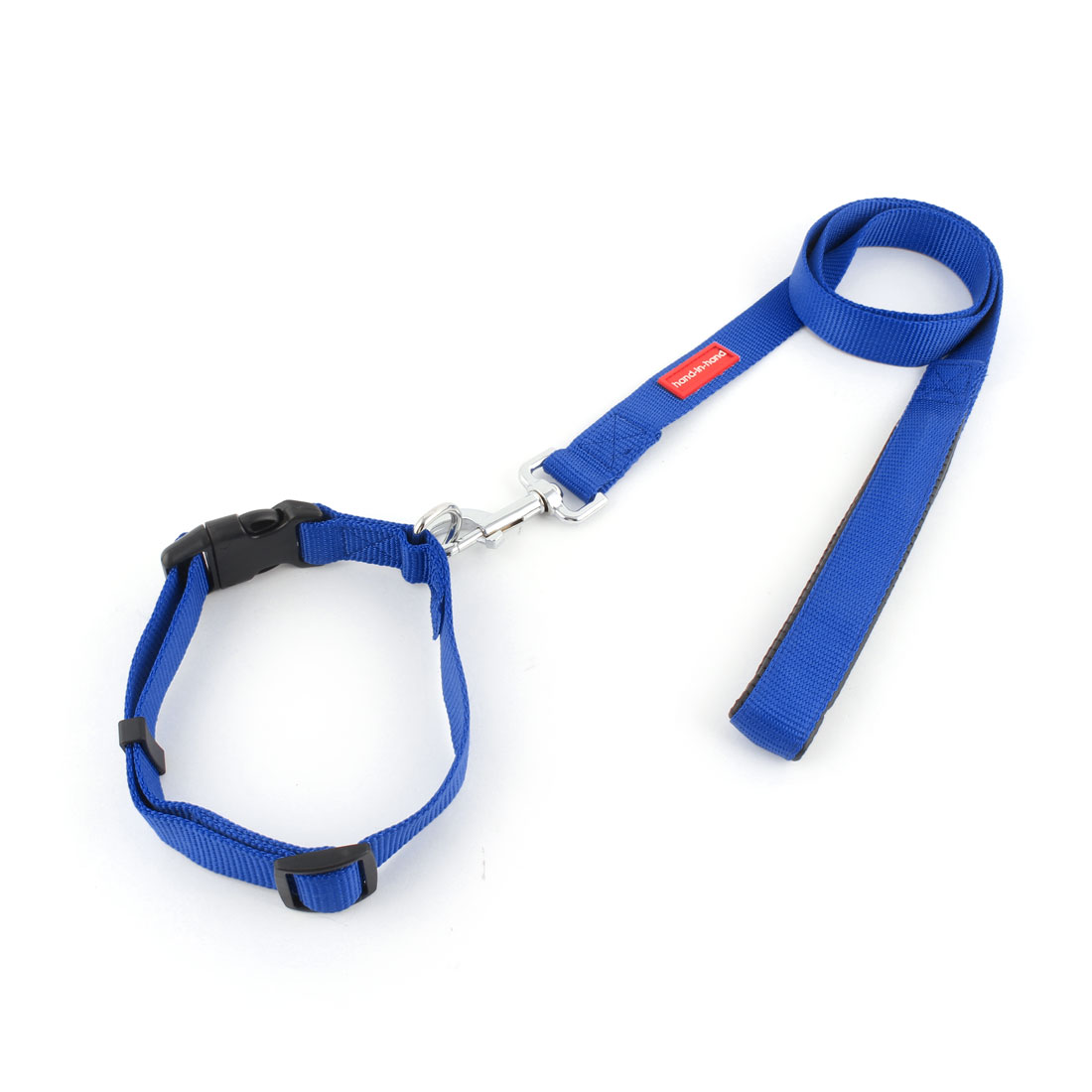 Dog Pet Puppy Foam Swivel Hook Walking Lead Training Rope Leash Blue w Neck Collar