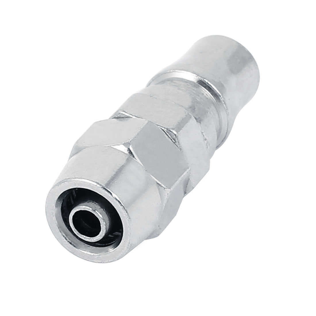 PP30 Nut Quick Fitting Pneumatic Connector Coupler Silver Tone