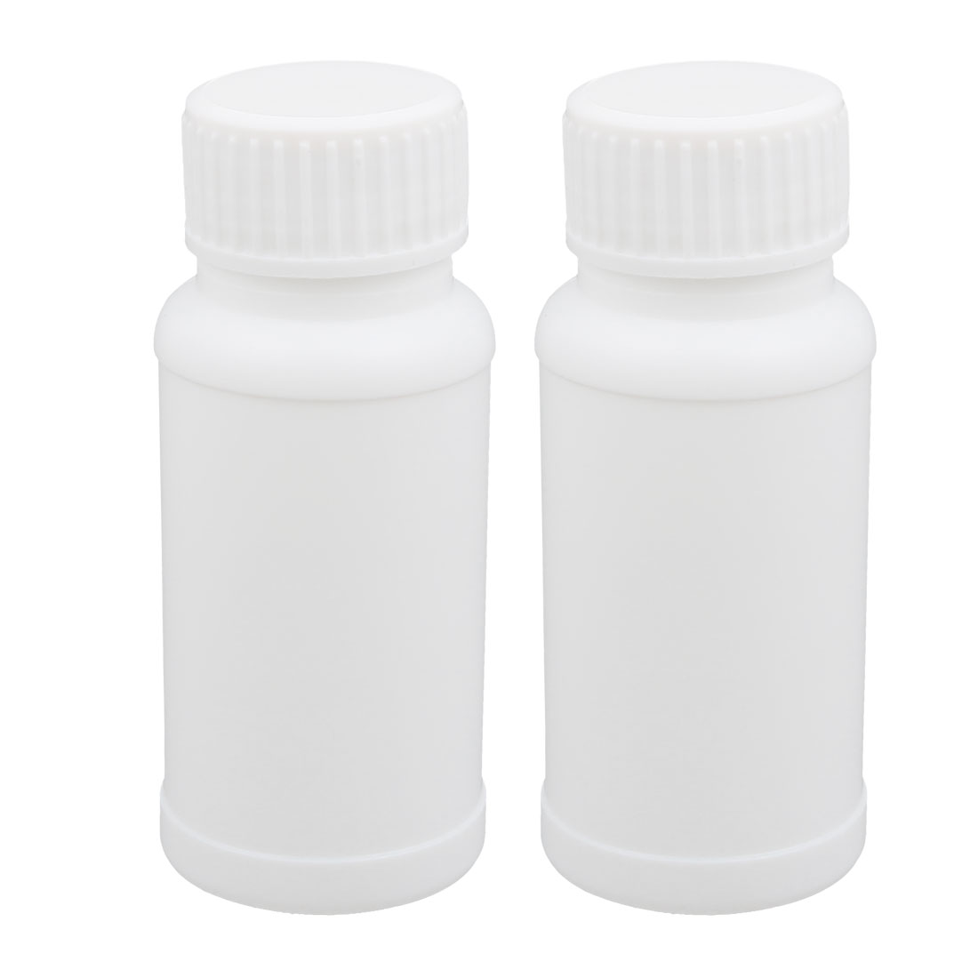 2pcs 2oz HDPE Plastic White Refillable Narrow Mouth Storage Bottle Jar