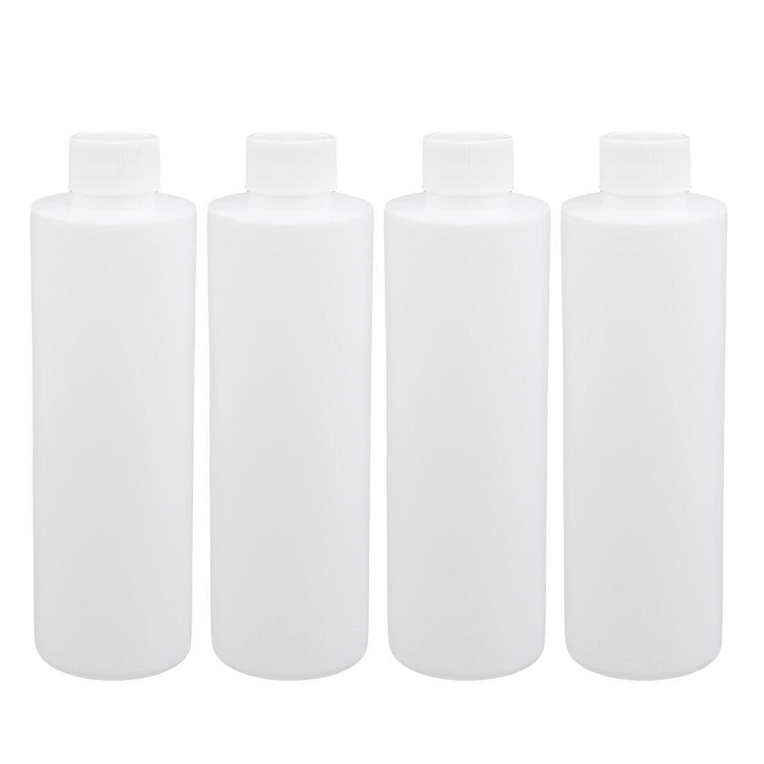 4Pcs 200ml Plastic White Round Solid Powder Bottle Storage Container Jar