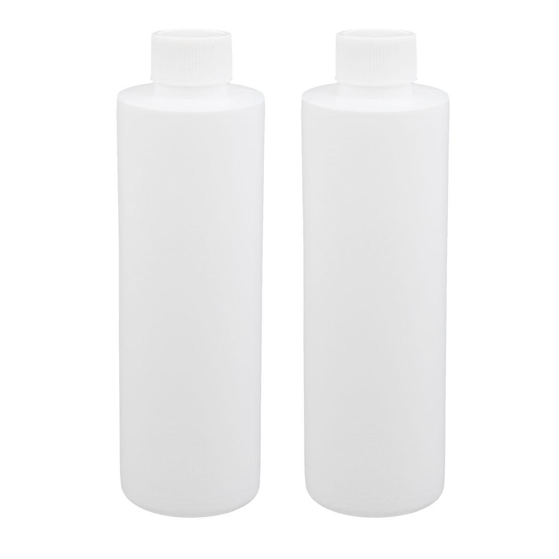 2pcs 17oz HDPE Plastic White Refillable Narrow Mouth Storage Bottle Jar DIY