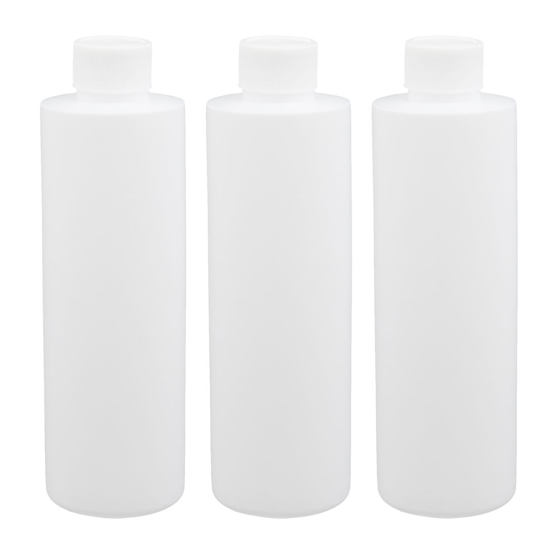 3pcs 6.8oz HDPE Plastic White Refillable Narrow Mouth Storage Bottle Jar