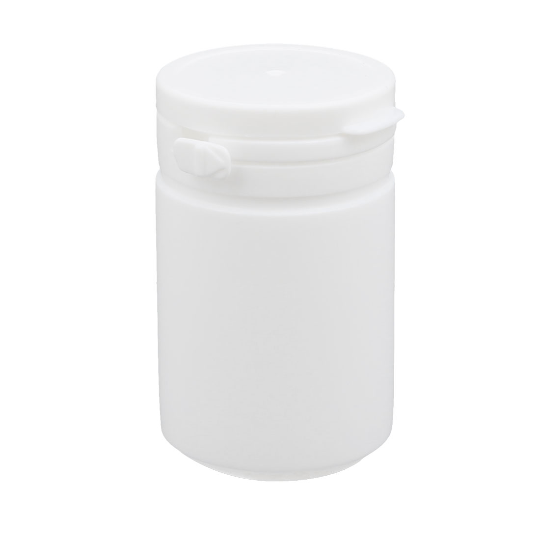 60ml Plastic White Round Solid Powder Bottle Storage Container Jar