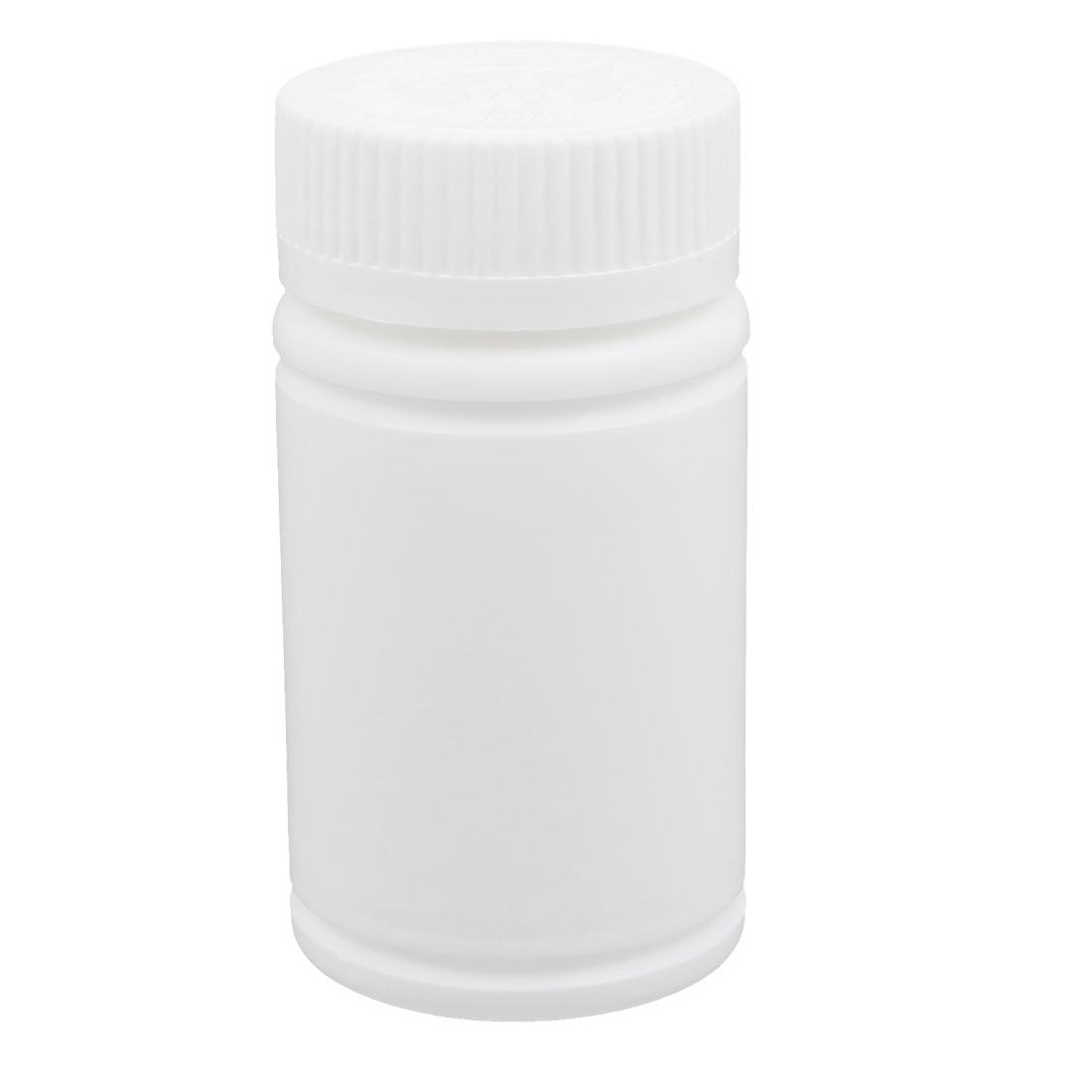 120ml Plastic White Wide Mouth Round Solid Powder Bottle Storage Jar