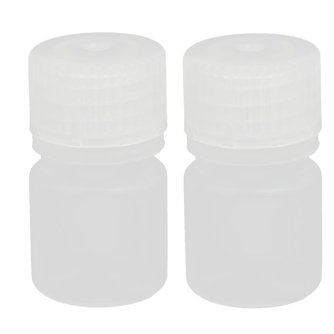 5ml PP Plastic Round Shaped Narrow Mouth Bottle Clear 2pcs