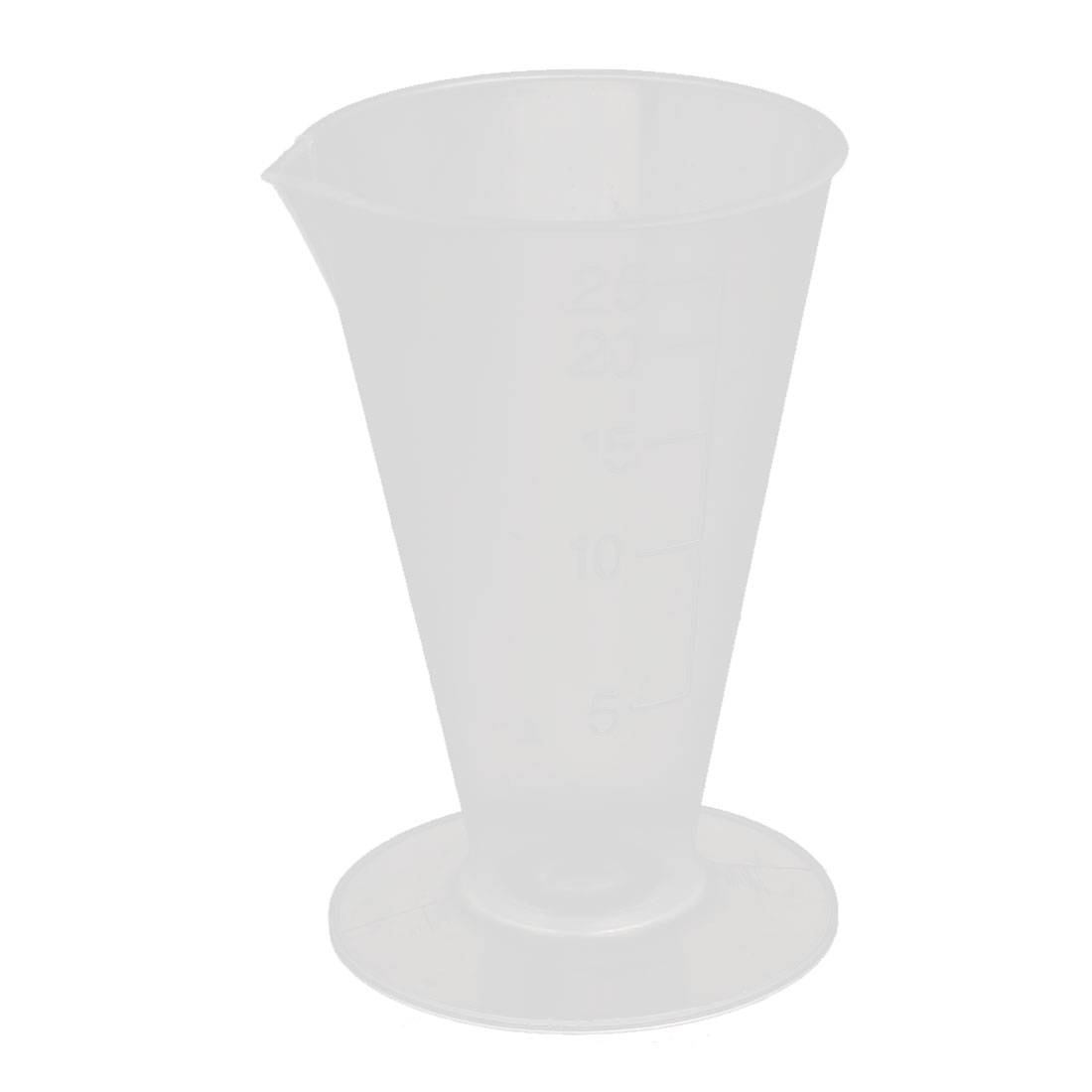 25mL Volumetric Graduated Laboratory Beaker Measuring Triangle Cup