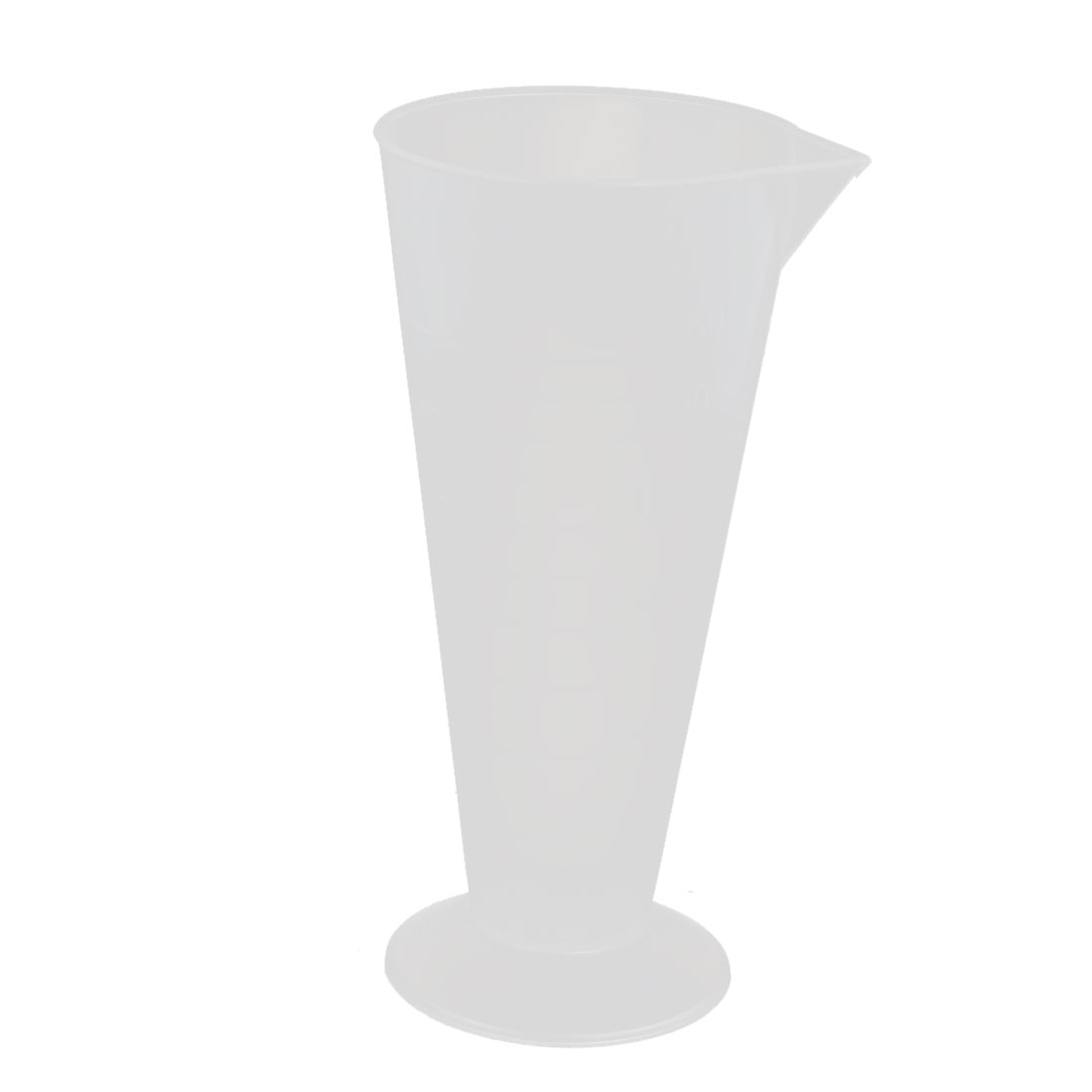 250mL Plastic Round Base Measurement Measuring Graduated Cylinder Clear