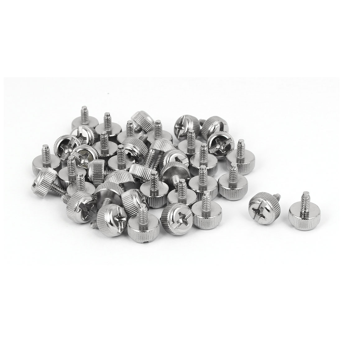 6#-32 UNC Metal Knurled Phillips Head Thumb Screw 40pcs for Computer PC Case