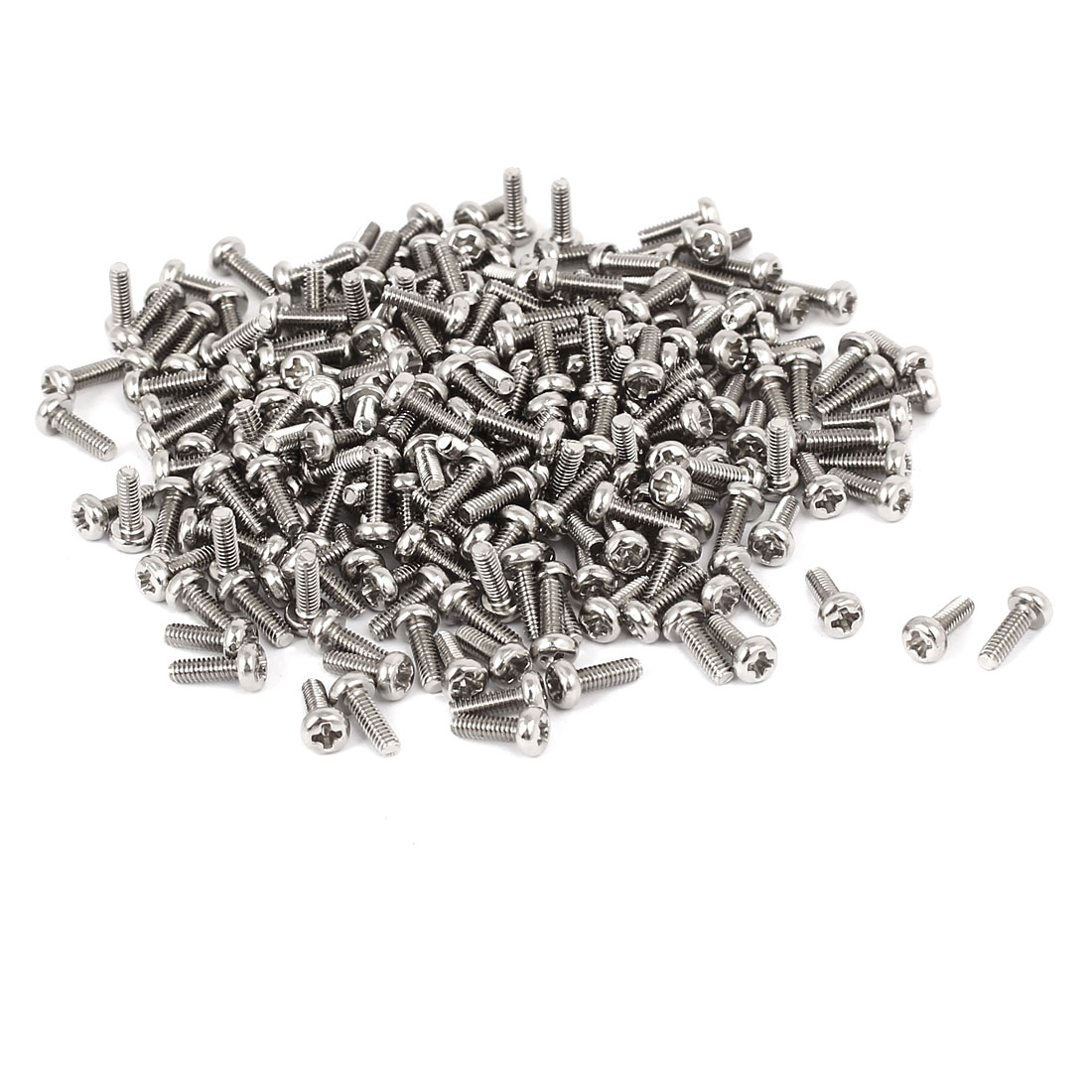 PM2 x 6mm Metal Phillips Notebook Laptop Computer Screw Silver Tone 300pcs