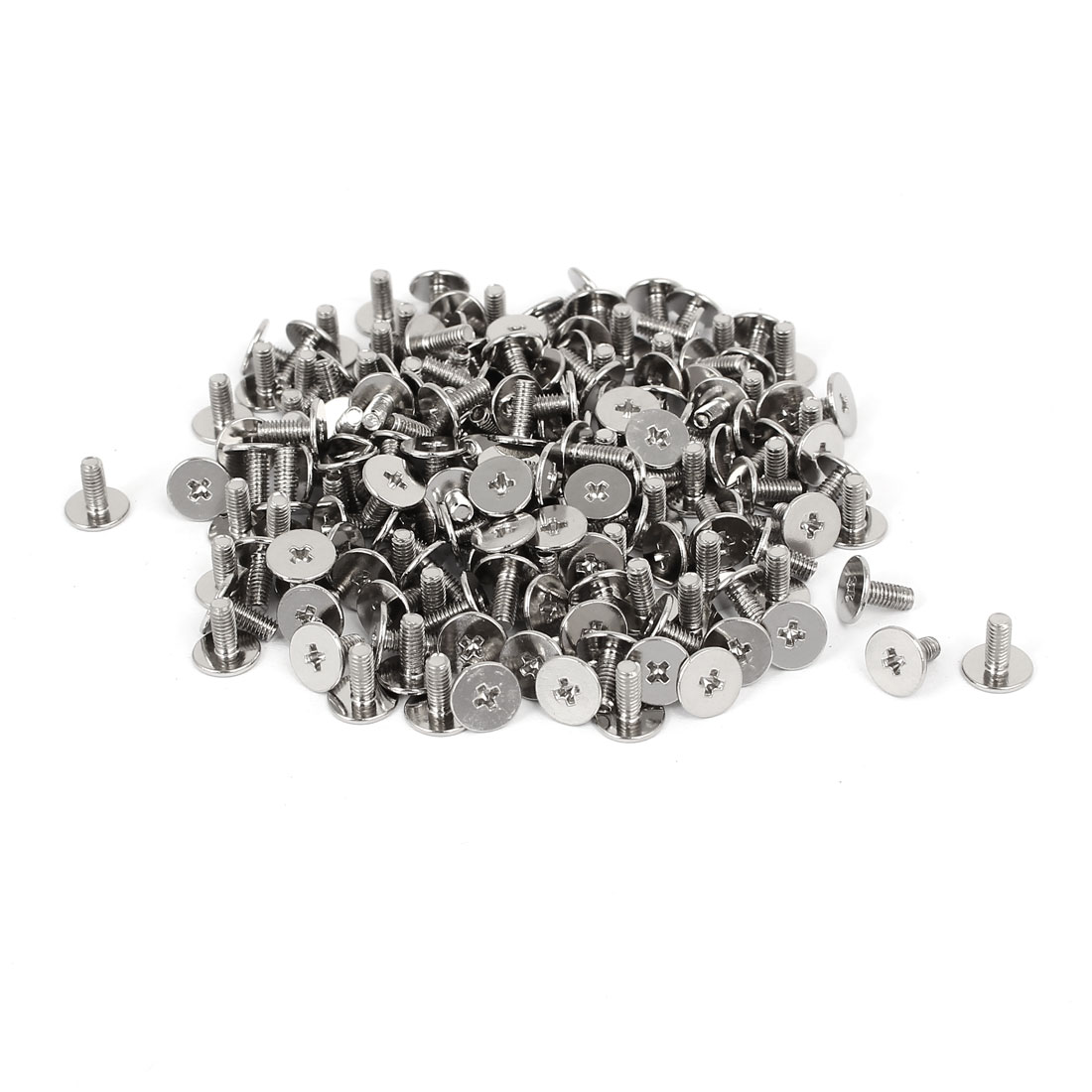CM2.5x6mm Nickel Plated Phillips Laptop Computer Repair Screw Silver Tone 200pcs