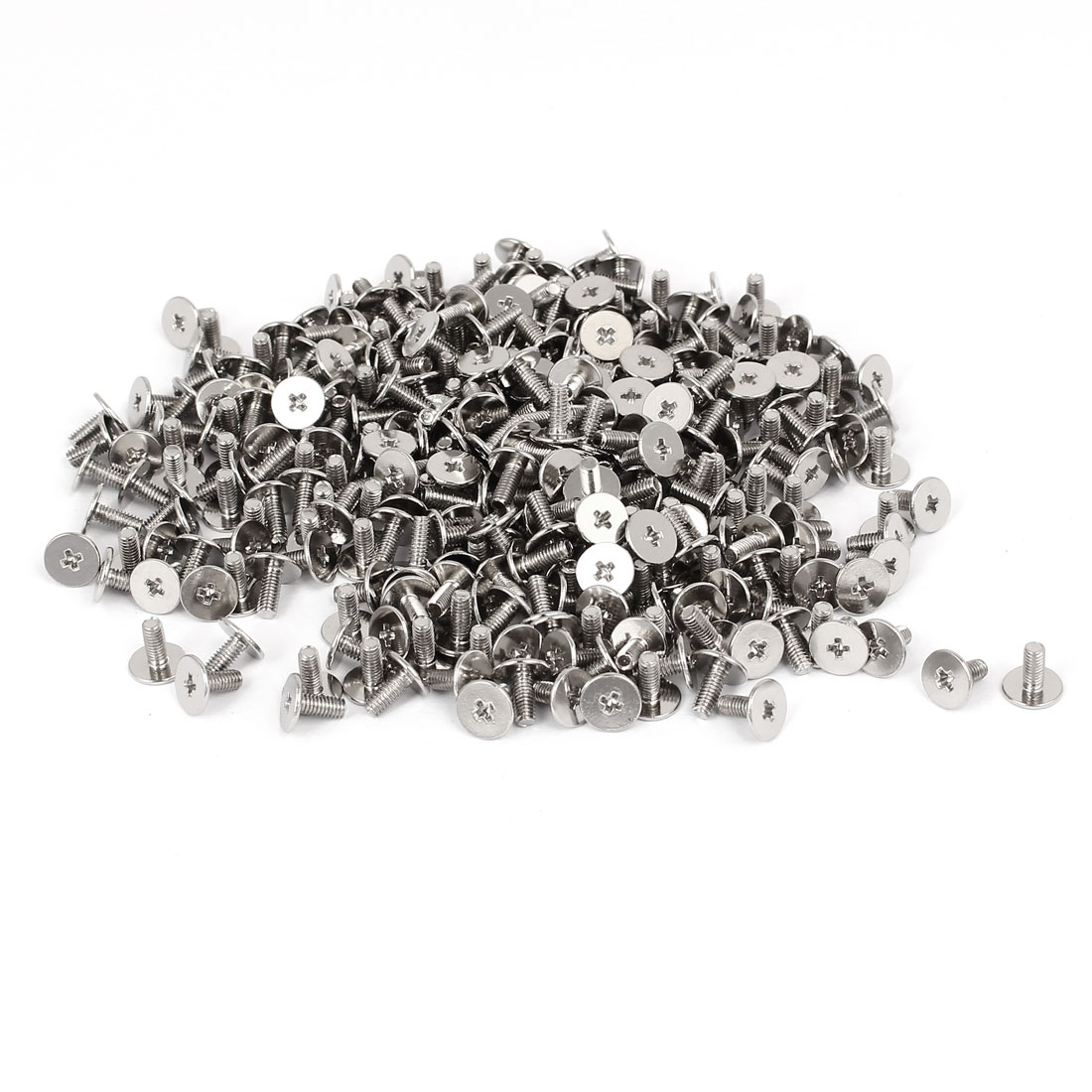 CM2.5x6mm Nickel Plated Phillips Laptop Computer Repair Screw Silver Tone 400pcs
