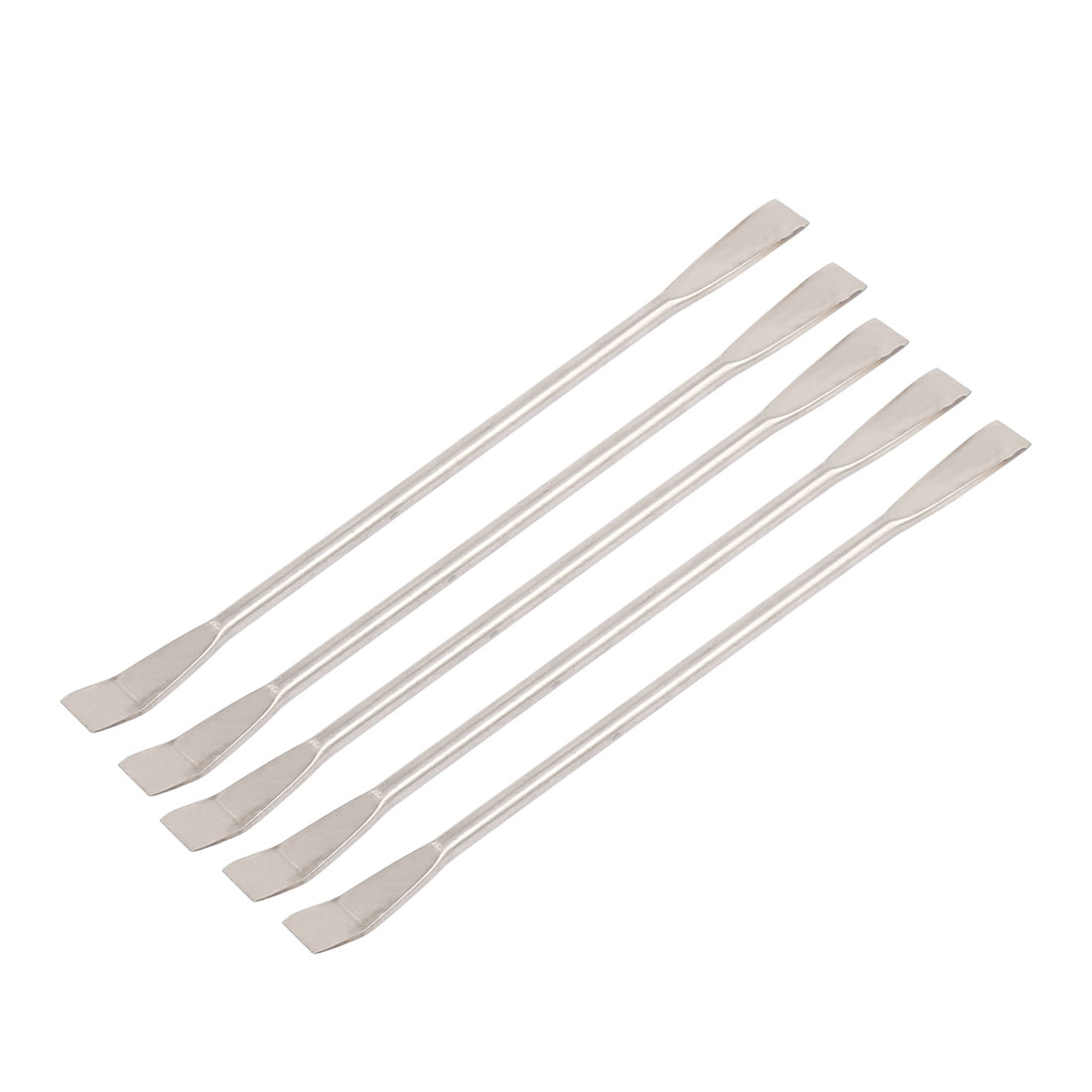 5Pcs 125mm Length Double Head Lab Instruments Stainless Steel Sampling Spatula