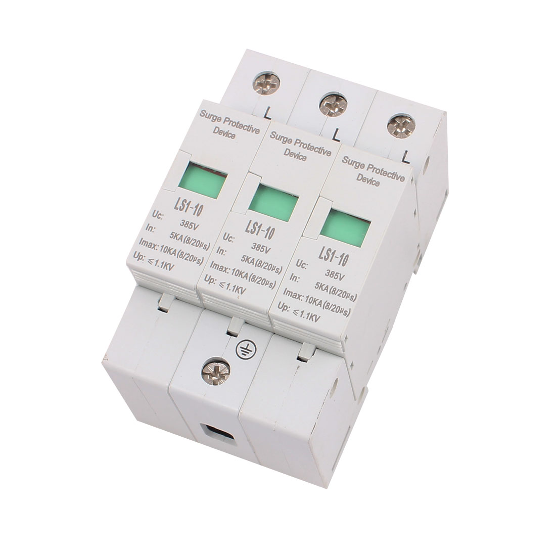 DC 385V 10KA Max Current 5KA In 3 Poles Arrester Surge Protector Device