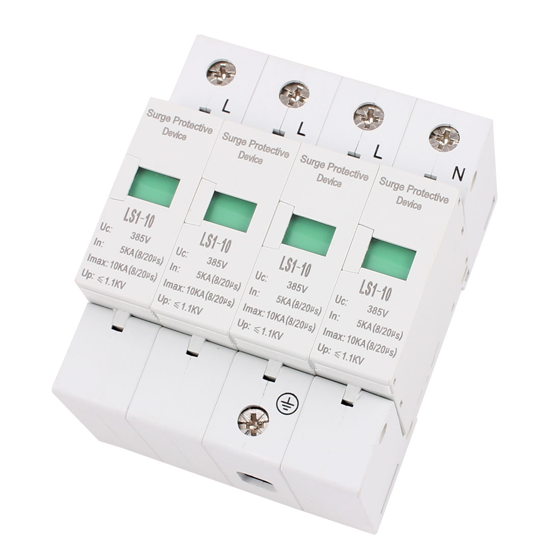 AC 385V 10KA Max Current Network Signal Protection Surge Protector Arrester