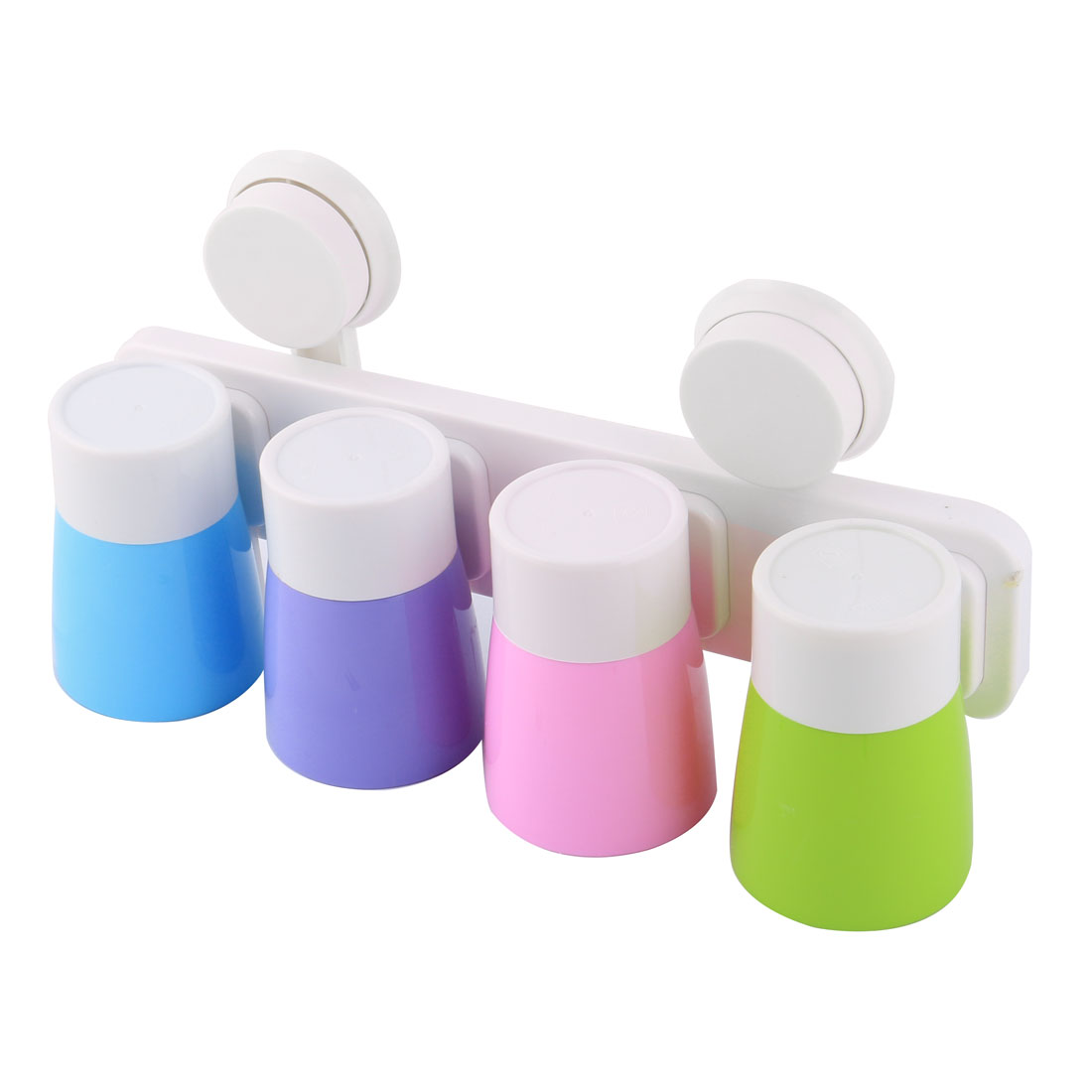 Bathroom Dual Suction Cups Toothpaste Organizer Toothbrush Storage Holder Set
