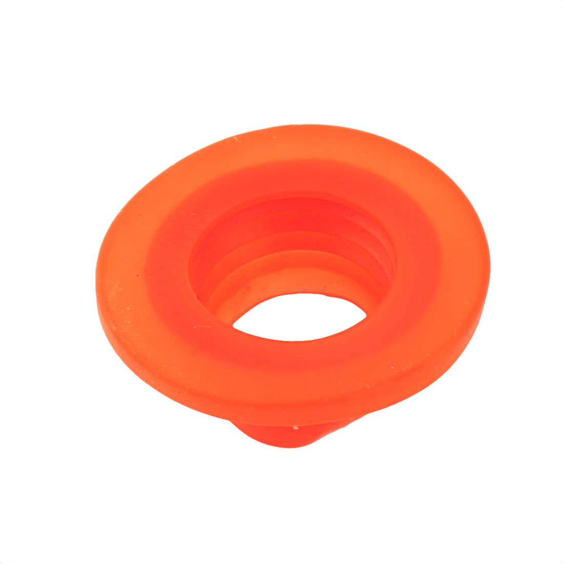 Washroom Silicone Deodorant Washing Machine Drain Sewer Pipe Sealing Connector Orange