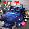 3d Galaxy Mysterious Boundless Bedding Sets Duvet/Quilt Cover Set 2pcs Single Size (Dark Blue Space)