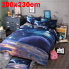 3d Galaxy Mysterious Boundless Bedding Sets Duvet/Quilt Cover Set 3pcs Queen Size (Purple Space)