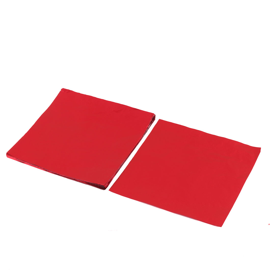 Aluminum Foil Baking Candy Chocolate Wrappers Tinfoil Paper Red 8 x 8cm 100pcs