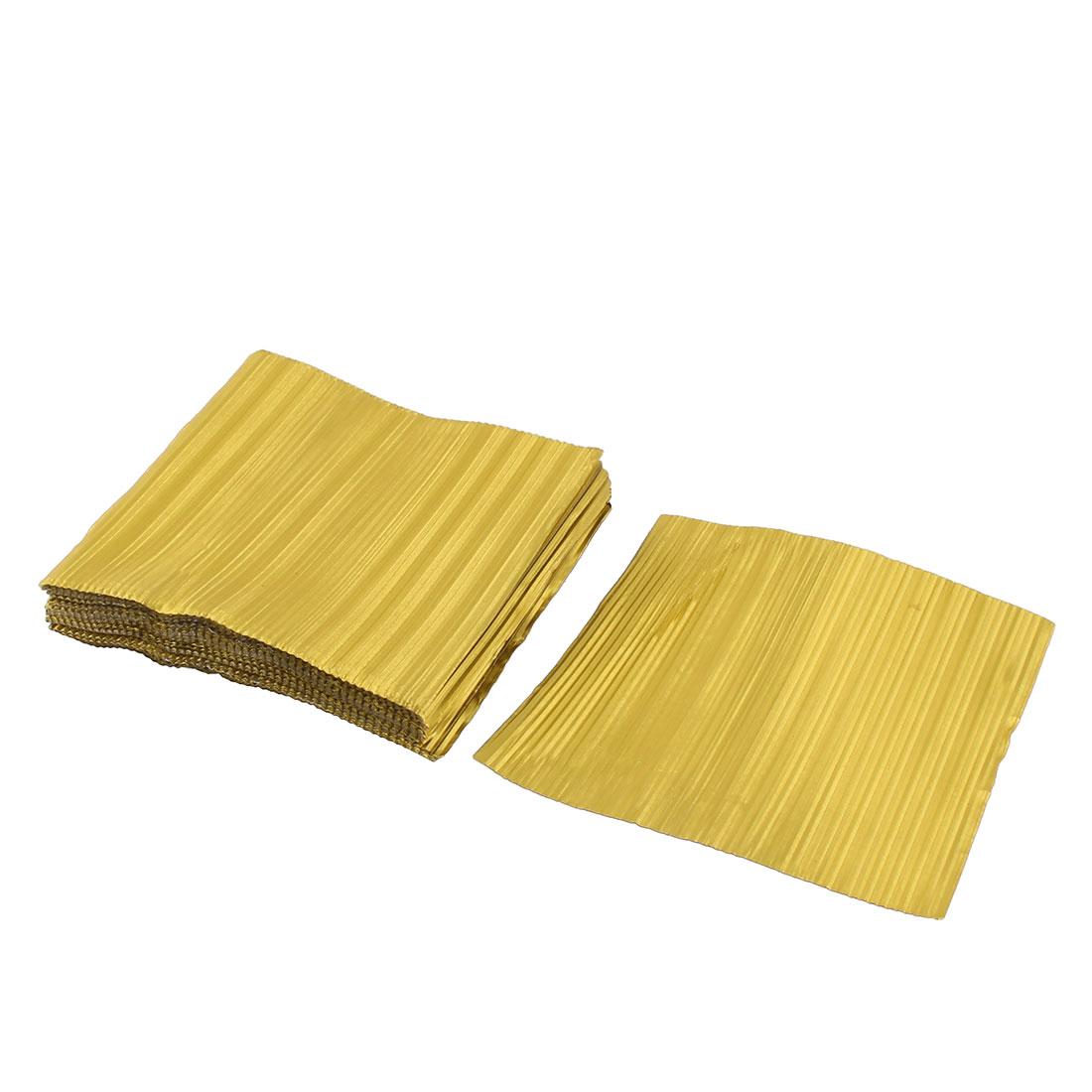 Aluminum Foil Disposable Wrap Chocolate Tinfoil Paper Yellow 11 x 11cm 100pcs