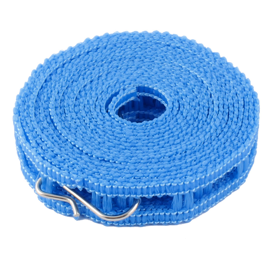 Household Outdoor Nylon Antiskid Clothesline Clothes Rope Blue 3.4m Long