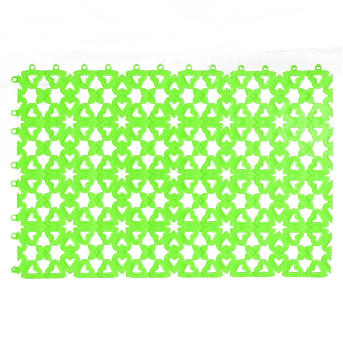 Plastic Free Split Joint Water Resistant Anti-slip Shower Bath Mat Green