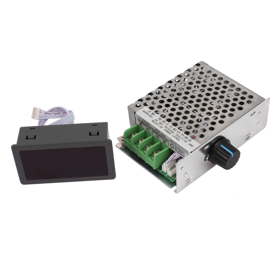 12-80V 30A Digital LED Display DC Brush Motor Speed PWM Controller Switch