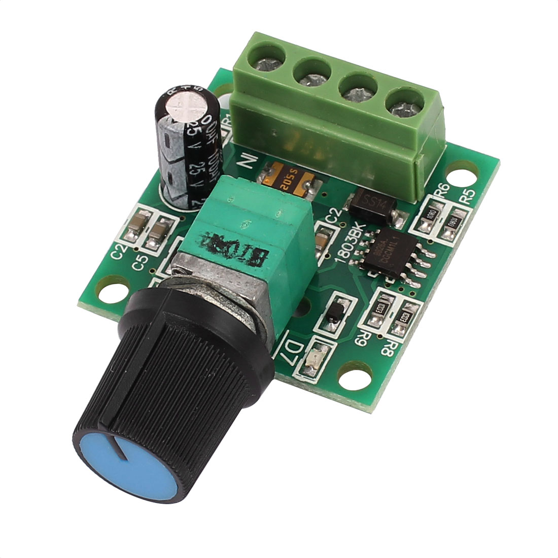 DC 1.8V 3V 5V 6V 12V 2A PWM Motor Speed Controller Regulator Adjustable Switch