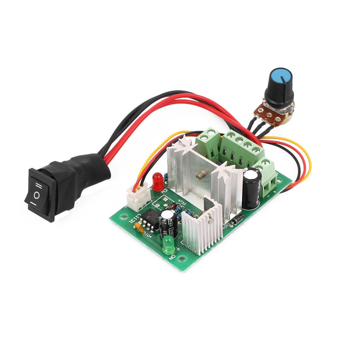 6V 12V 24V PLC PWM DC Motor Speed Controller Reversible Forward / Reverse Switch