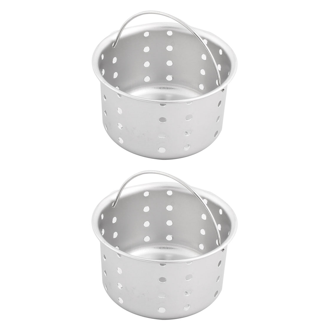 Bathroom Kitchen Stainless Steel Basin Sink Mesh Drain Strainer Filter 70mm Dia 2pcs