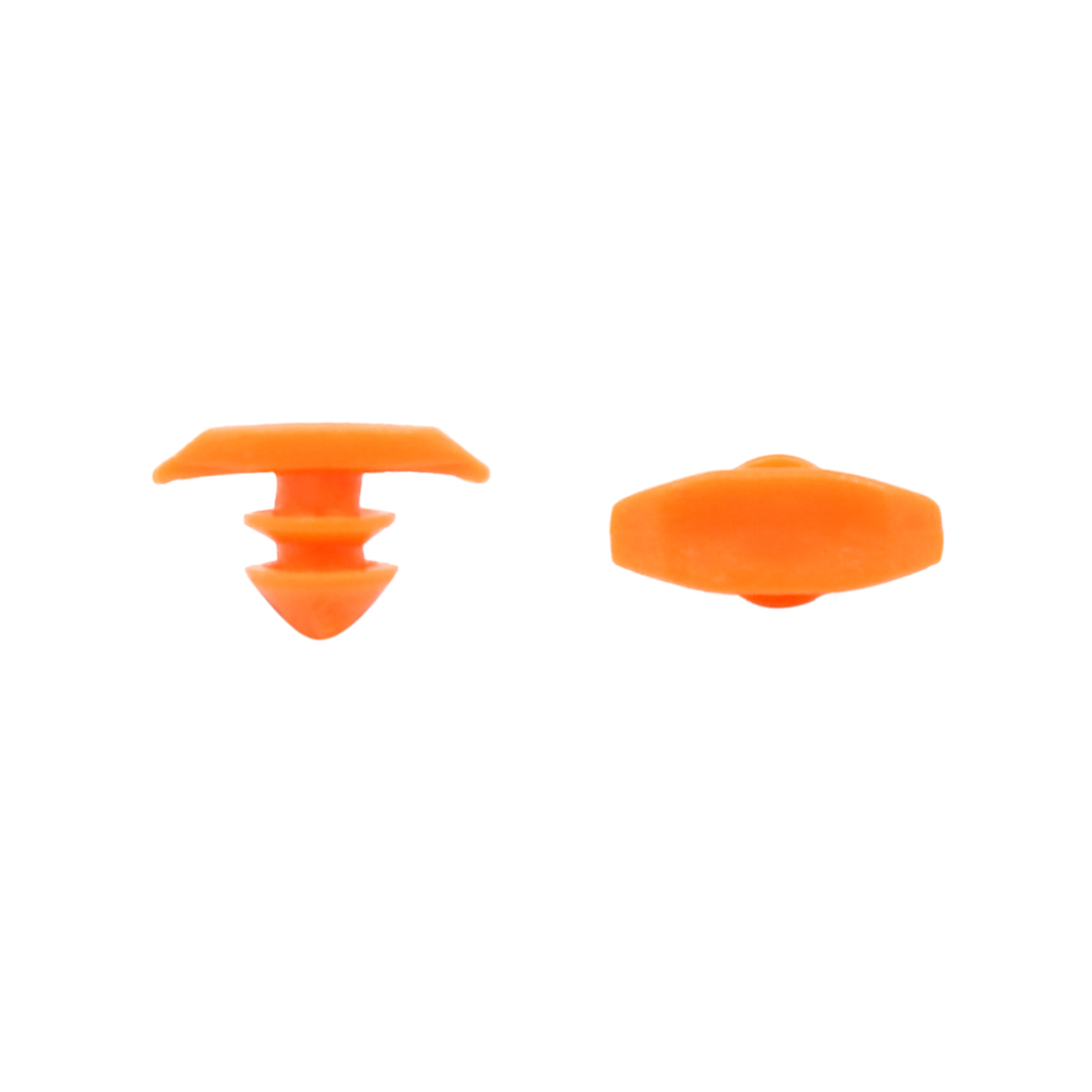 40 Pcs Orange Car Door Fender Push Plastic Rivets Retainer Clip 6mm x 6mm x 8mm