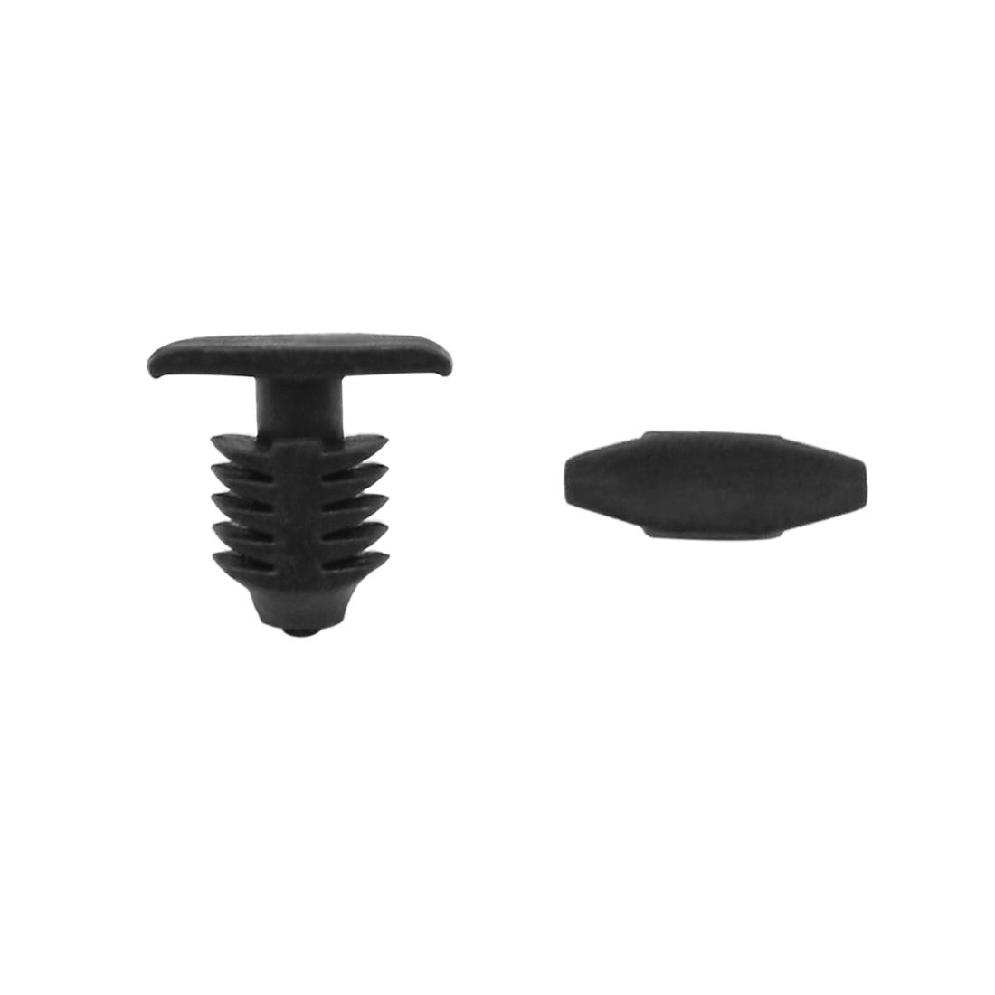 40 Pcs 13mm x 5mm Head Dia Plastic Rivets Fastener Clips Black for Car Auto