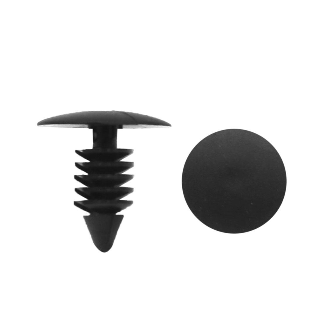 20 Pcs 8mm Hole 18mm Head Black Plastic Push Rivets Fasteners for Automobile