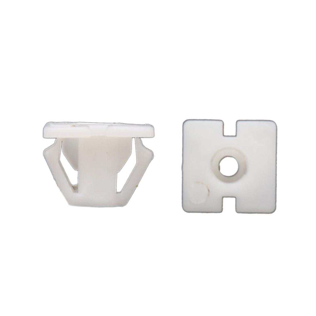 40 Pcs White Nylon Plastic Rivets Retainer Push Clips 14mm Hole Dia for Car