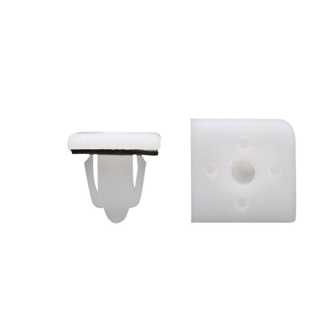 100 Pcs White Interior Trim Panel Car Door Plastic Clips 11mm Hole Diameter