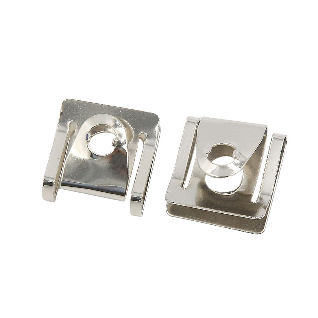 50 Pcs Silver Tone U-Type Rivets Door Panel Screw Fastener Clips 9mm Hole