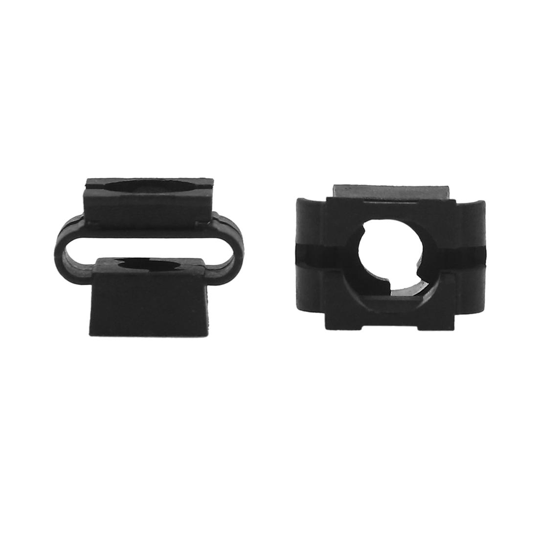 100 Pcs Black Interior Door Trim Panel Board Moulding Rivet Retainers Fastener