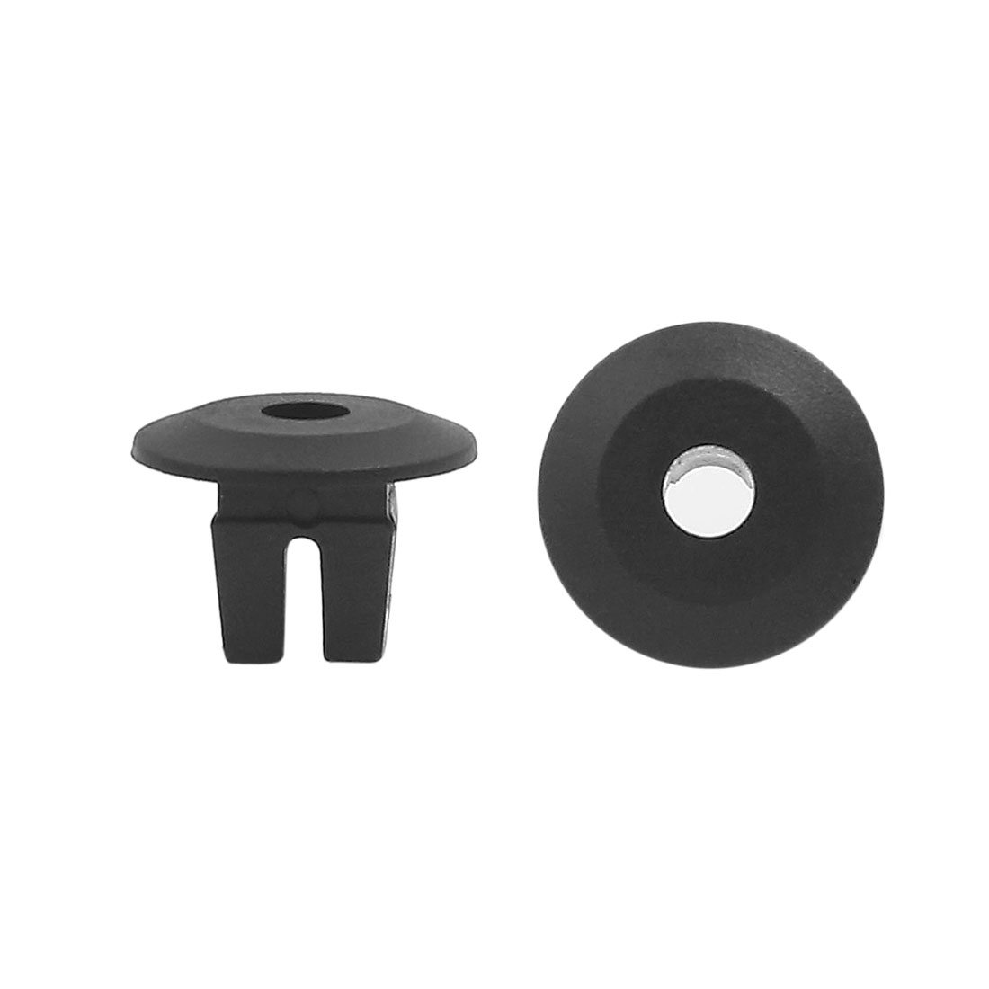 50 Pcs Black 8 x 8mm Dia Hole Plastic Screw Fender Body Door Rivets for Car