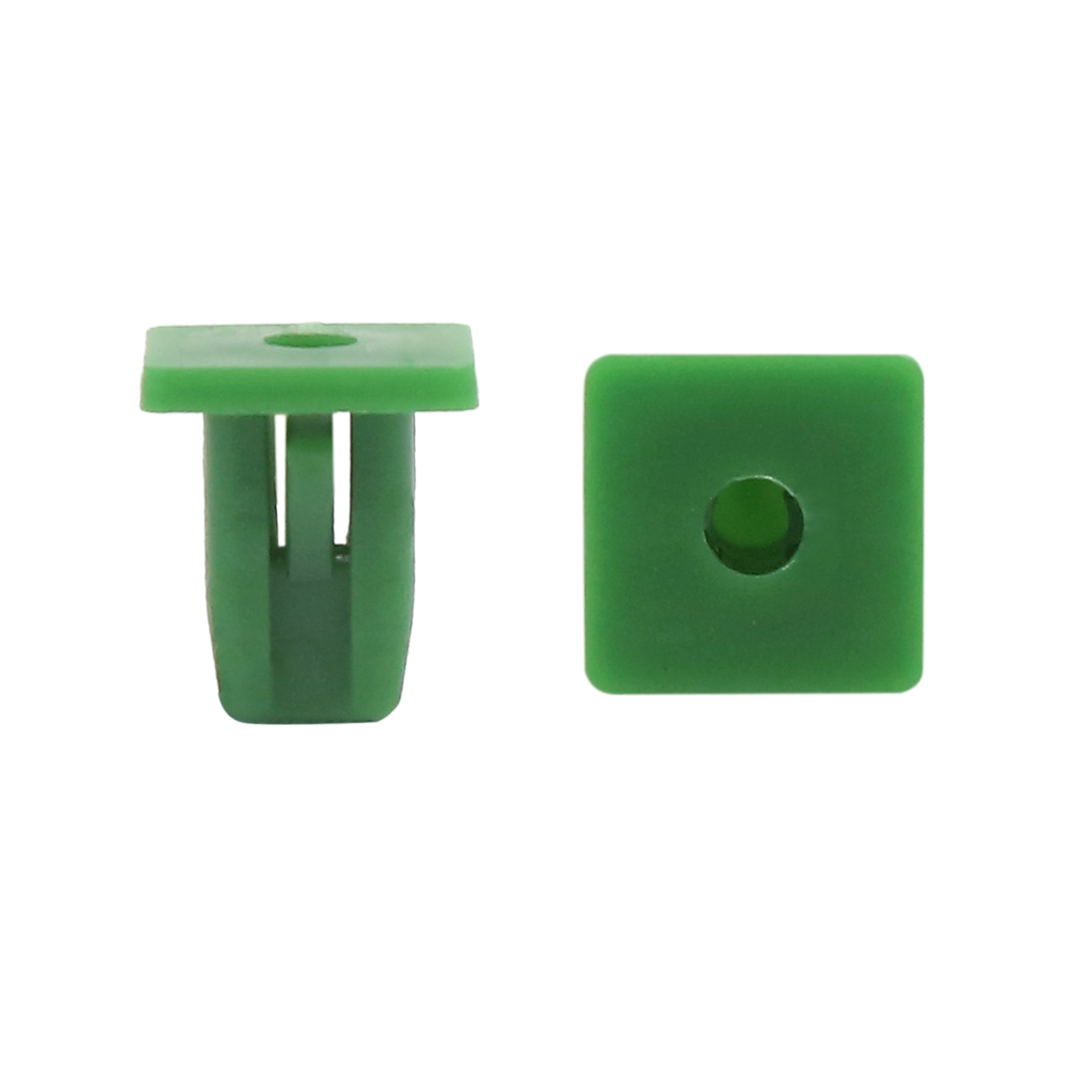 30 Pcs Green 10 x 8mm Hole Under Engine Splash Guard Rivets Fastener Retainer