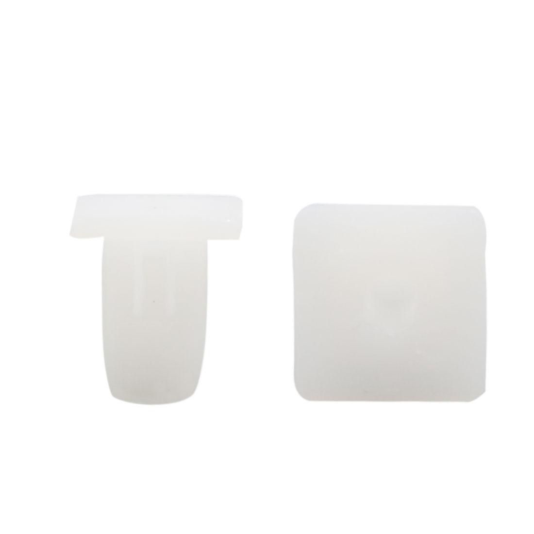 50 Pcs White 10 x 8mm Dia Hole Plastic Fender Body Door Trim Panel Hood Clips