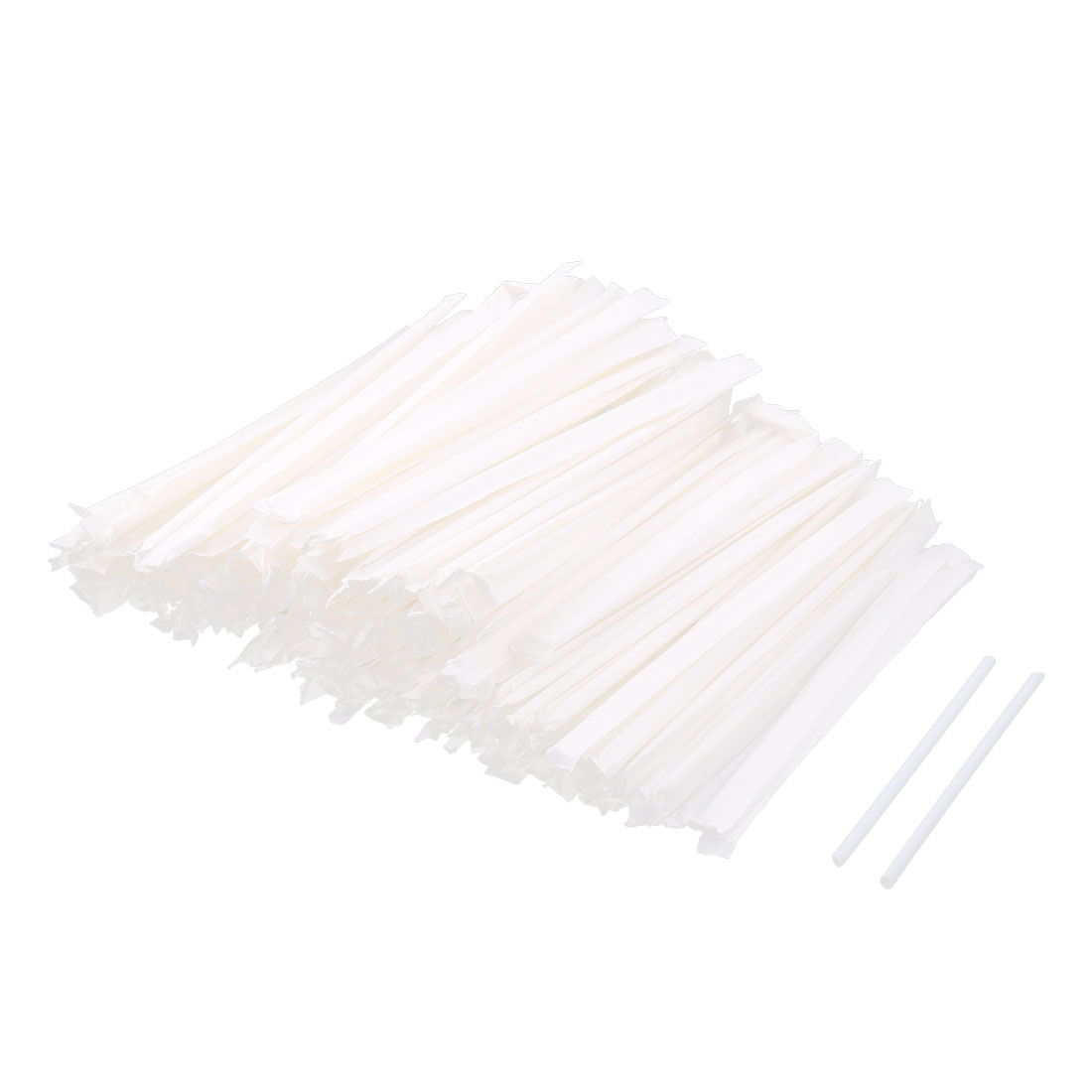 Wedding Birthday Party Plastic Juice Drink Drinking Straws White 200 Pcs