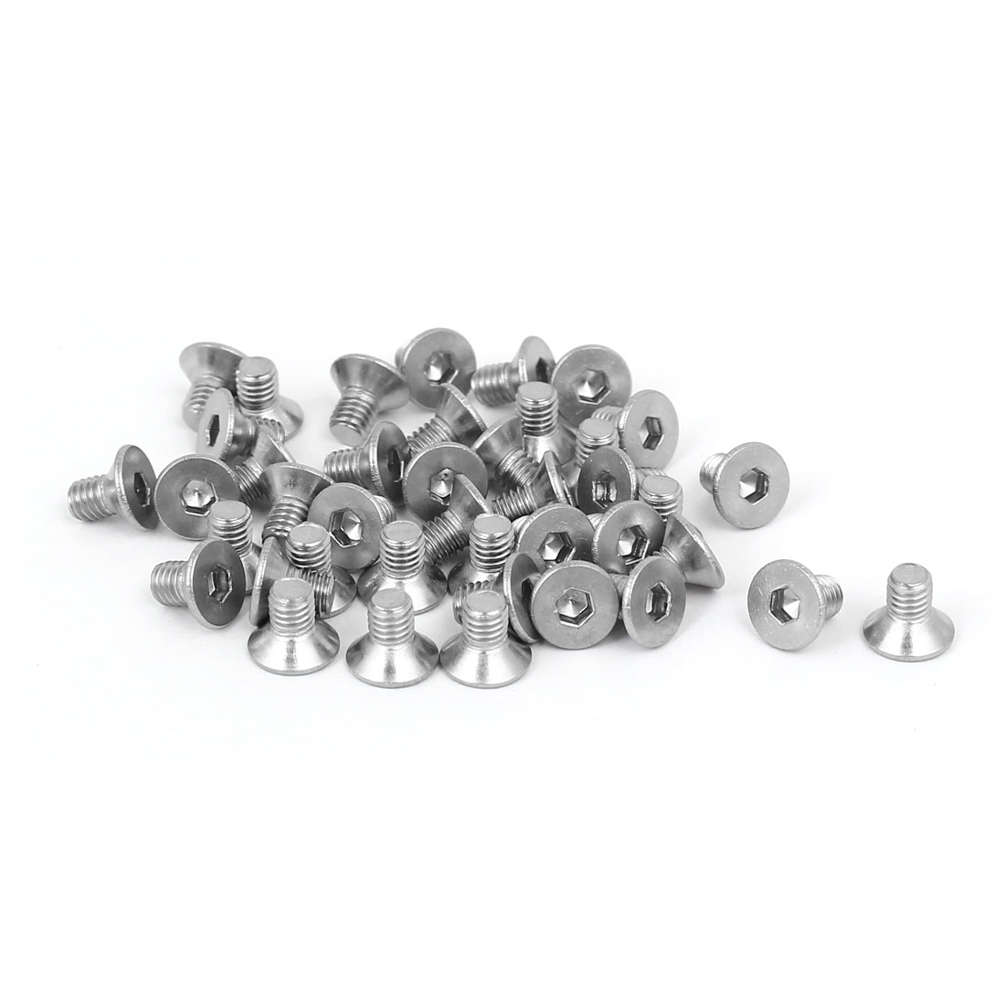 DIN7991 M3x5mm 316 Stainless Steel Flat Head Hex Socket Cap Screw Bolt 40pcs