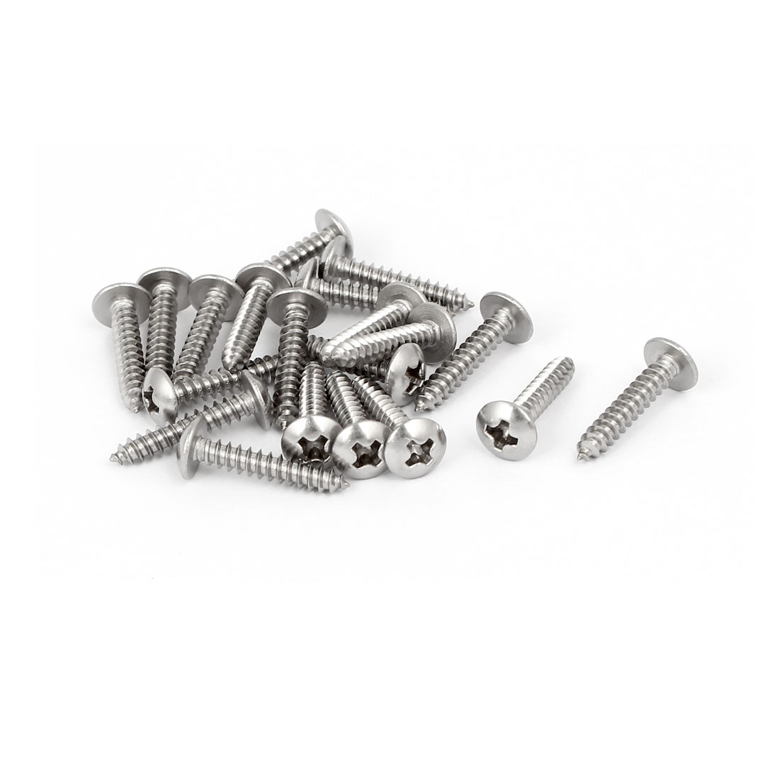 M3x16mm 316 Stainless Steel Truss Phillips Head Self Tapping Screws 20pcs