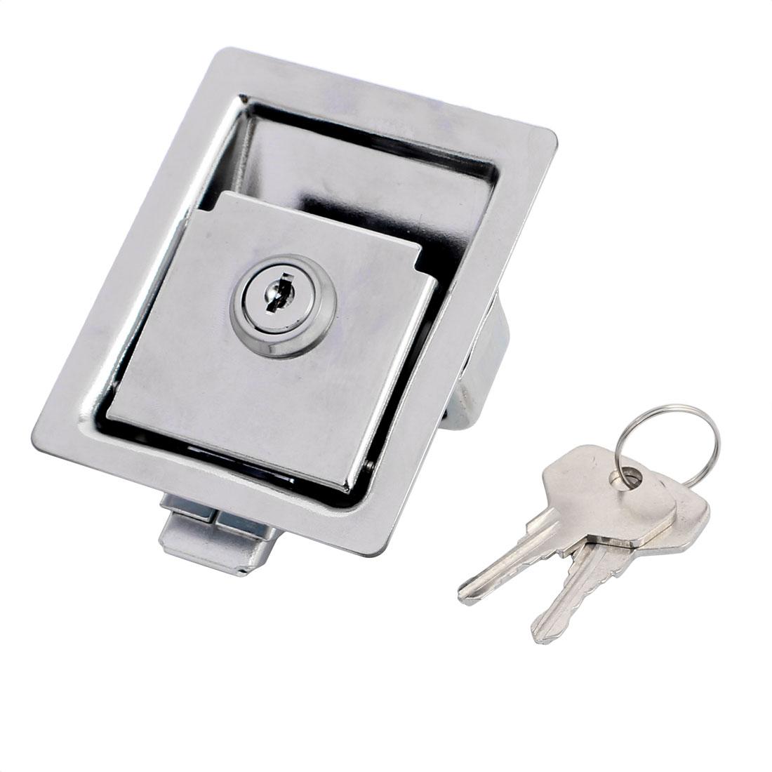 Office Home Chrome Plated Pull Type Slam Latch Lock Locker Silver Tone 90mmx69mm