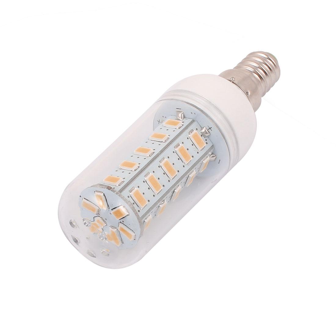 AC220-240V 5W 36 x 5730SMD E14 LED Corn Bulb Light Lamp Energy Saving Warm White