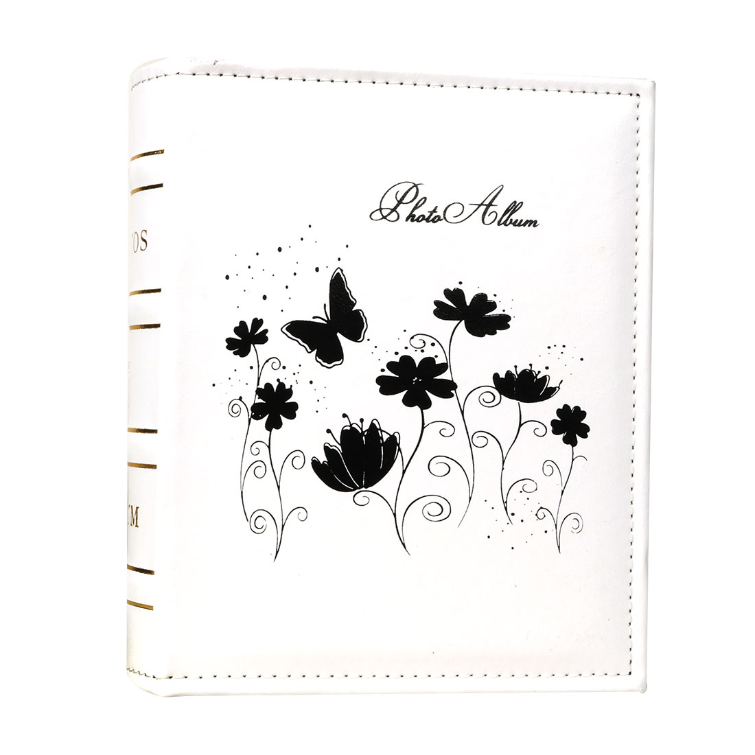 Household Retangular Shaped Flower Butterfly Print Exquisite Holder Photo Album