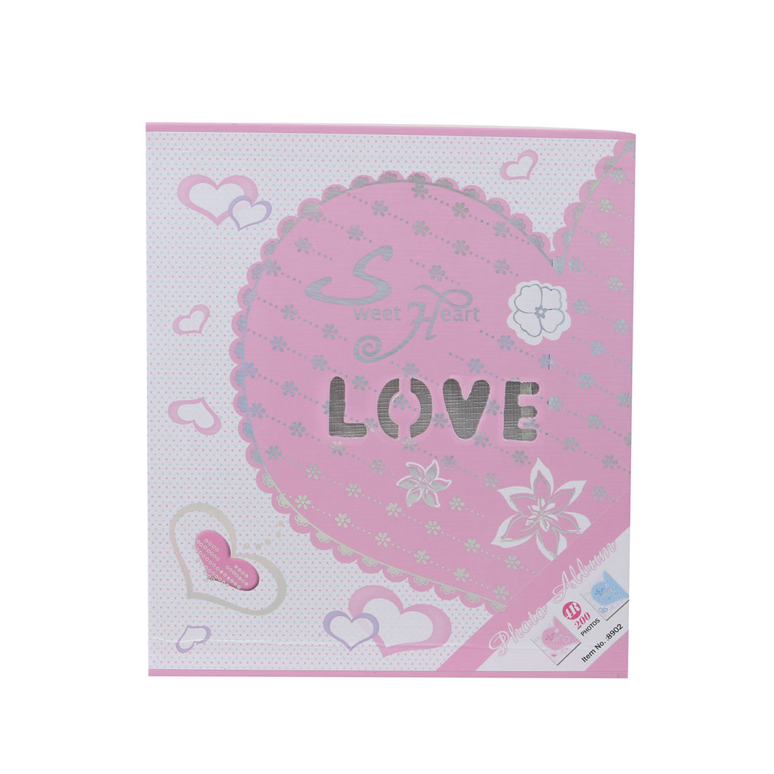 Family Love Print Insert Memory Picture Storage Holder Photo Album Pink 6inches