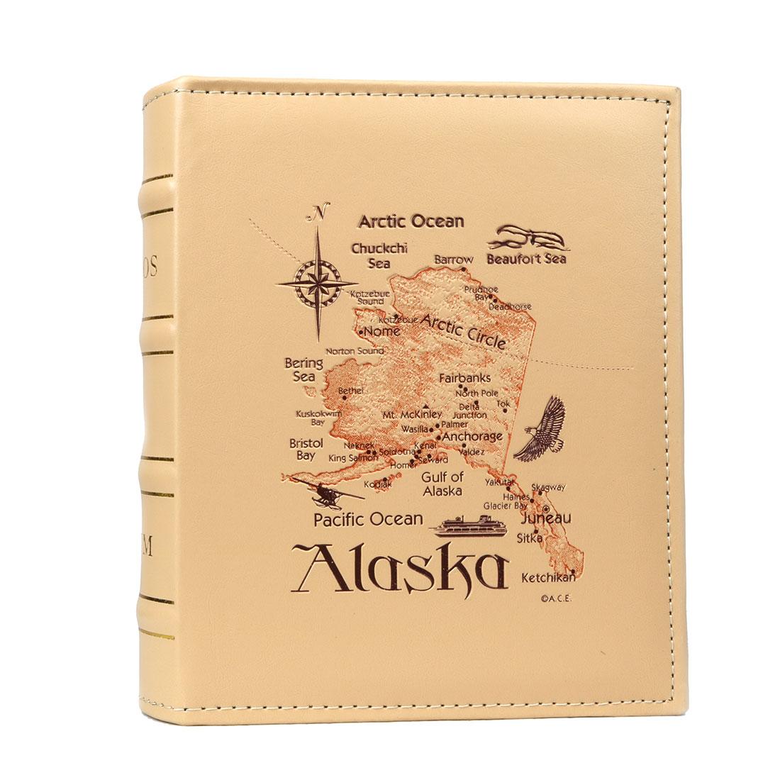 Household Retangular Shaped Alaska Letter Pattern Collections Holder Photo Album